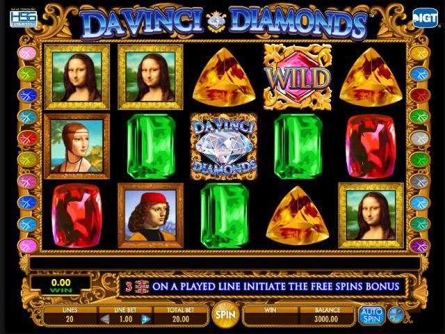 Da Vinci Diamonds tragamonedas gratis online