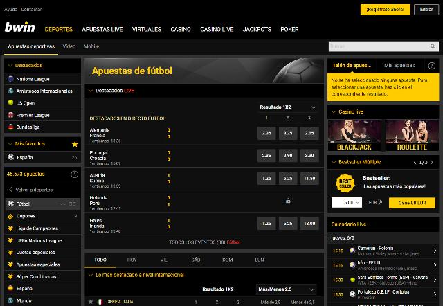 Jugar y apostar en Bwin Perú